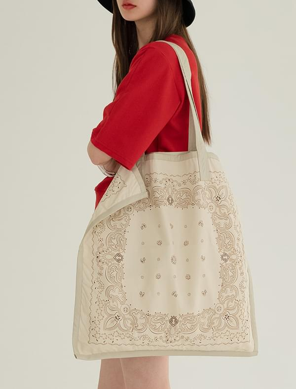 paisley big eco bag