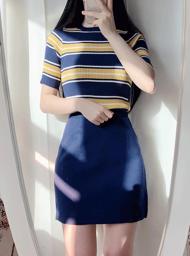 Tigara knit + goose skirt set