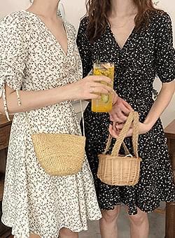 Jang Flower V-neck Dress
