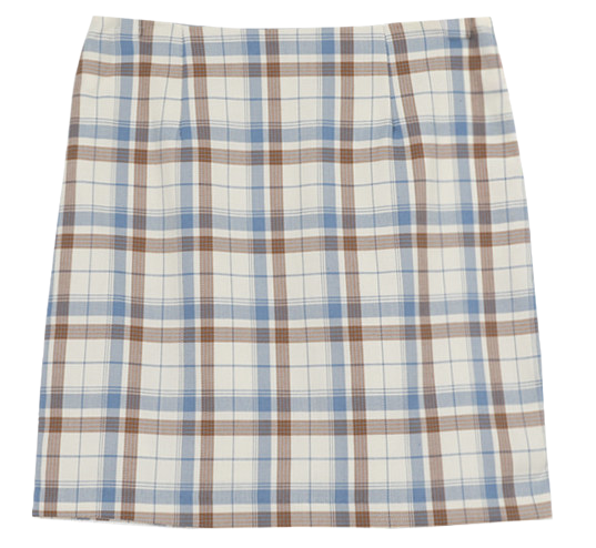 Hilo check mini skirt