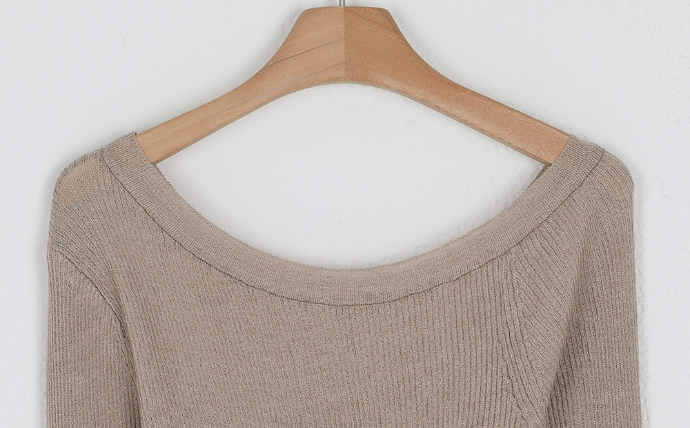 unbal off golgi slim knit