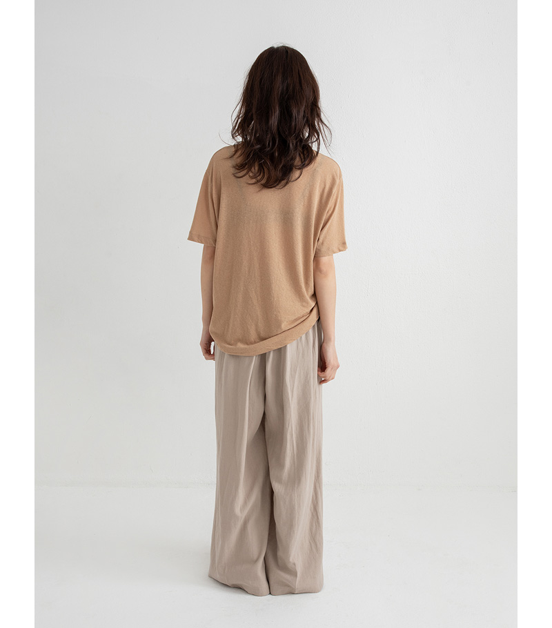 cocoa linen wide pants