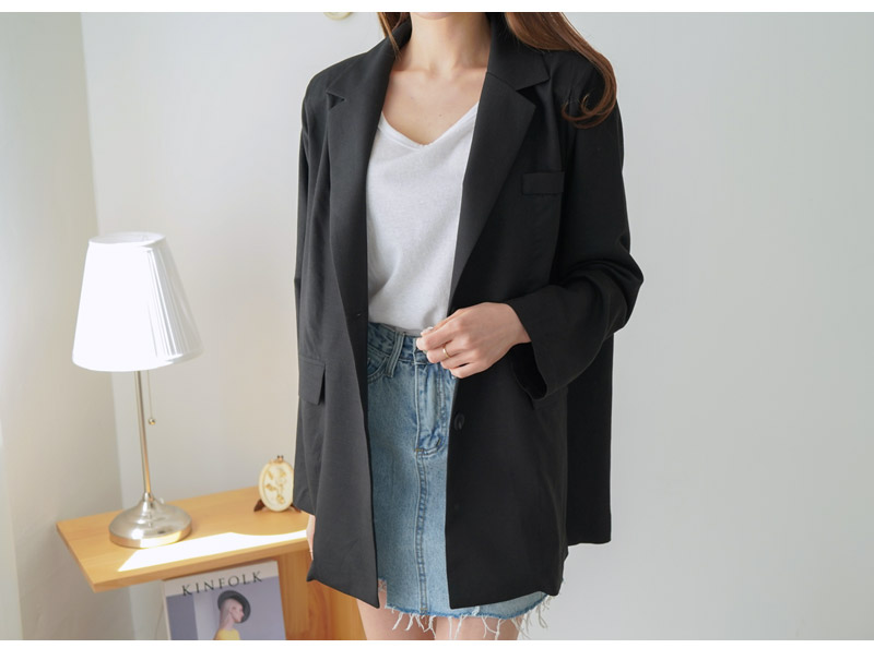 Strap Over Buffet Linen Jacket