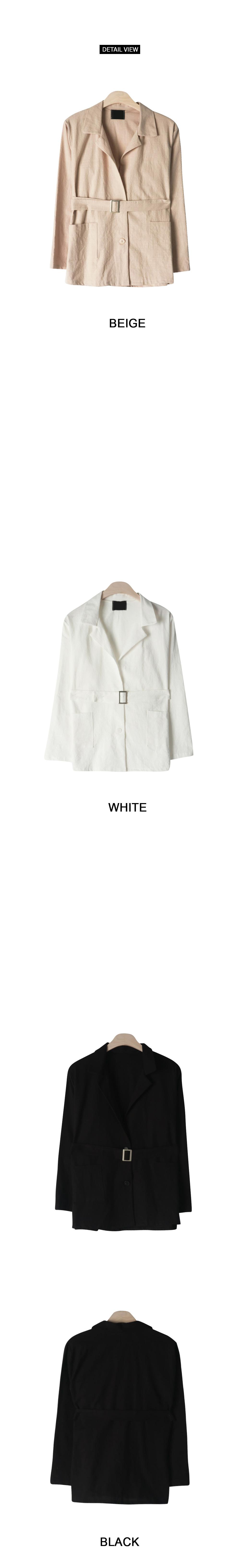 Honey Linen Belt set jacket