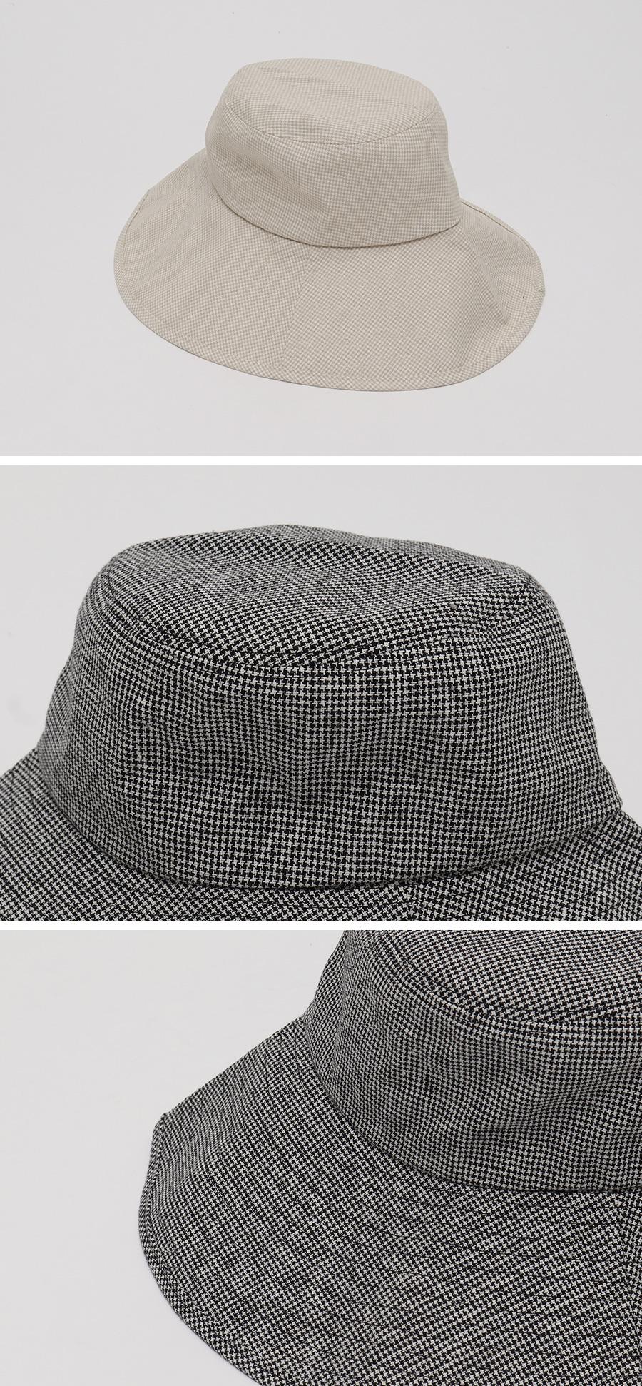 Mini check bucket hat_J
