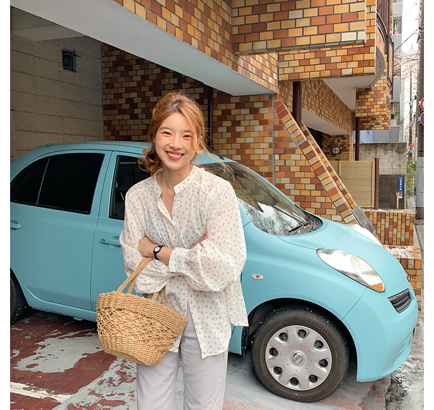 Tokyo rattan tote bag_K