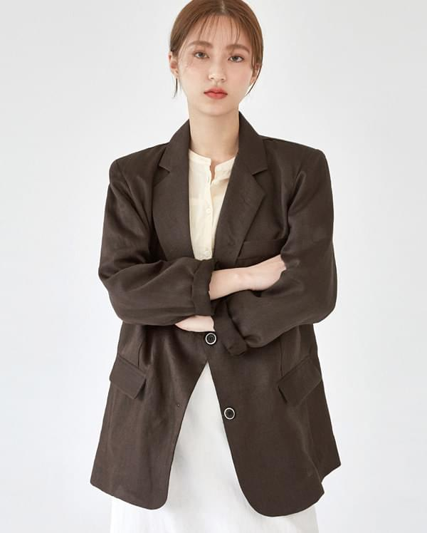 cover mannish linen jacket