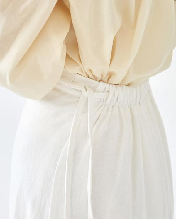 lead linen long skirt