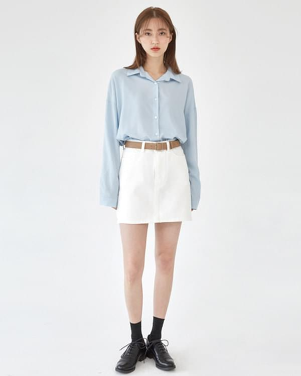solve cotton mini skirts