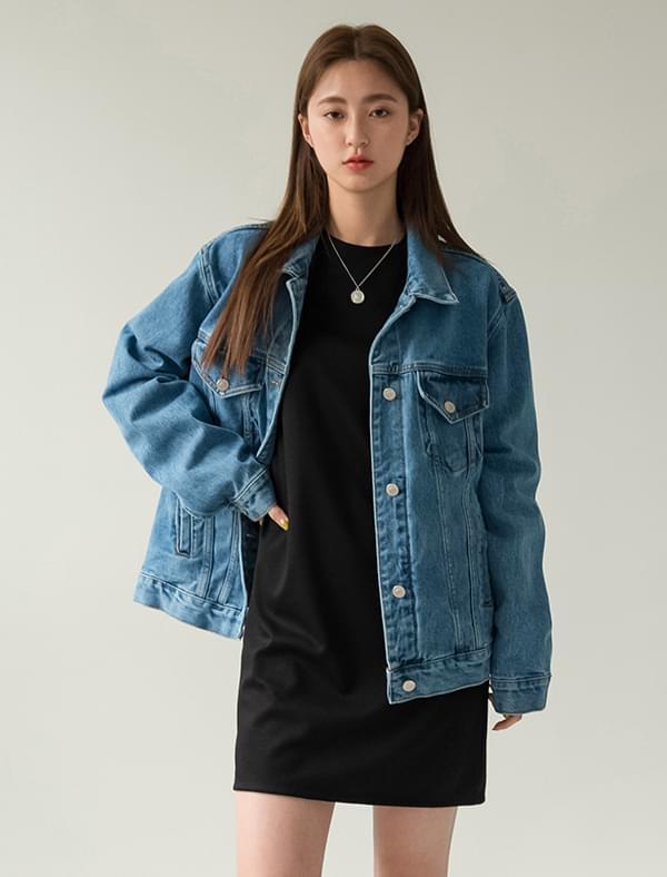 loose fit easy denim jacket