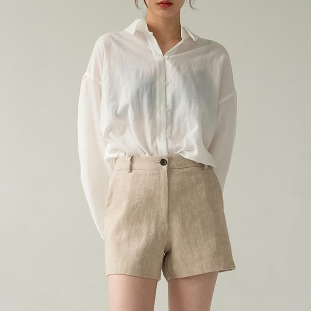 loose cotton puff blouse