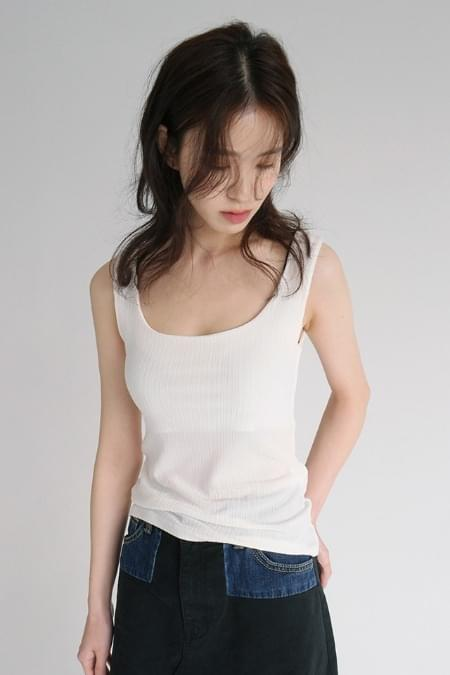 square neck sleeveless