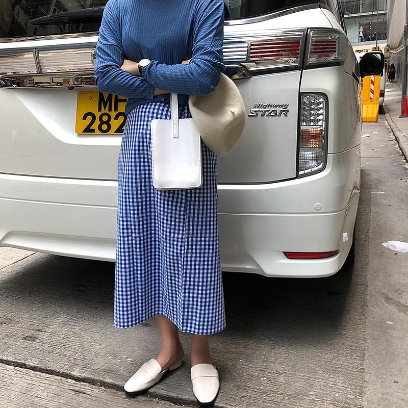 Outing check skirt