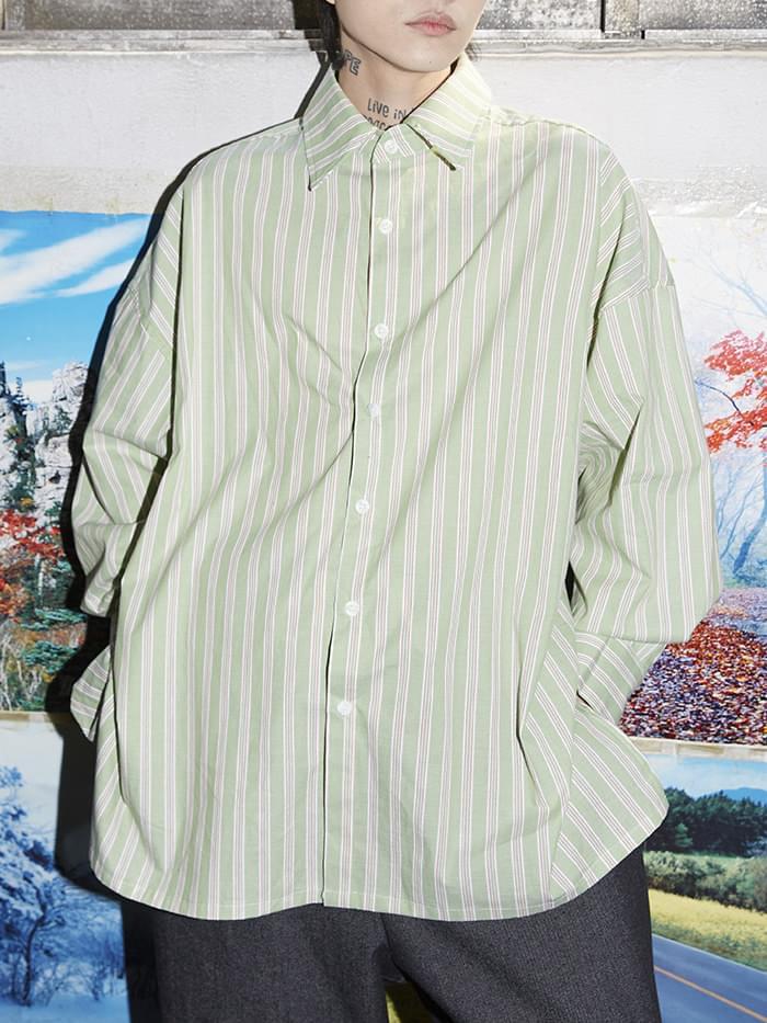 pastel stripe over shirts - men