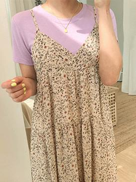 Flower Ari bustier long dress