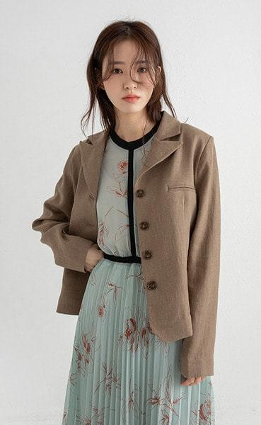 classy linen slim jacket