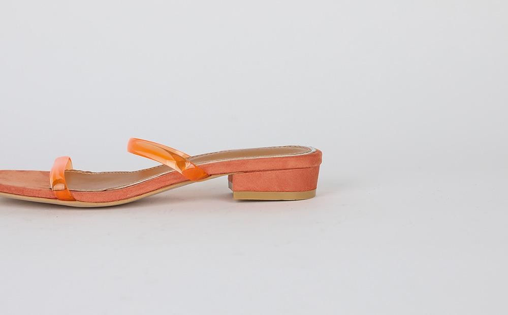 color acrylic slipper