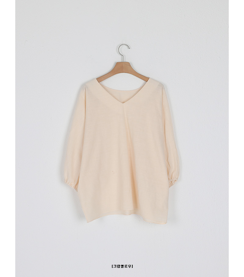 balloon v-neck blouse
