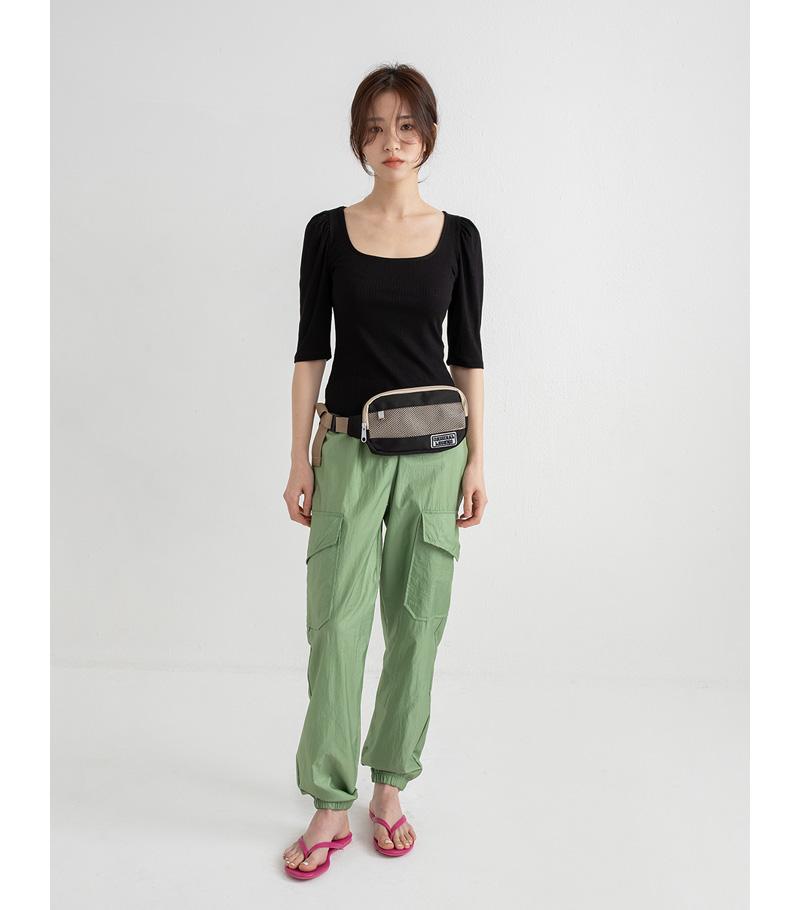 shinny jogger pants