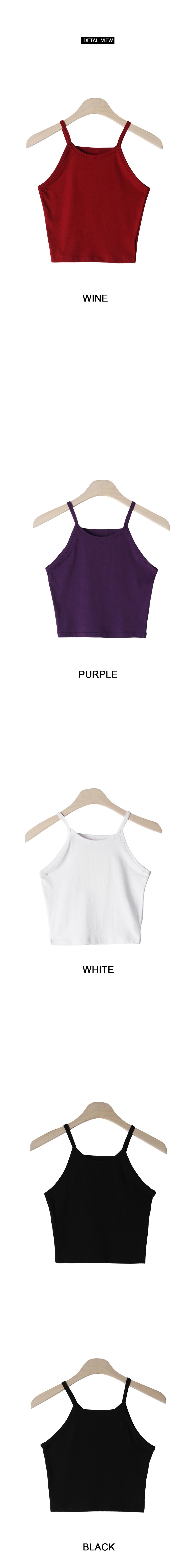 Layered color sleeveless shirt