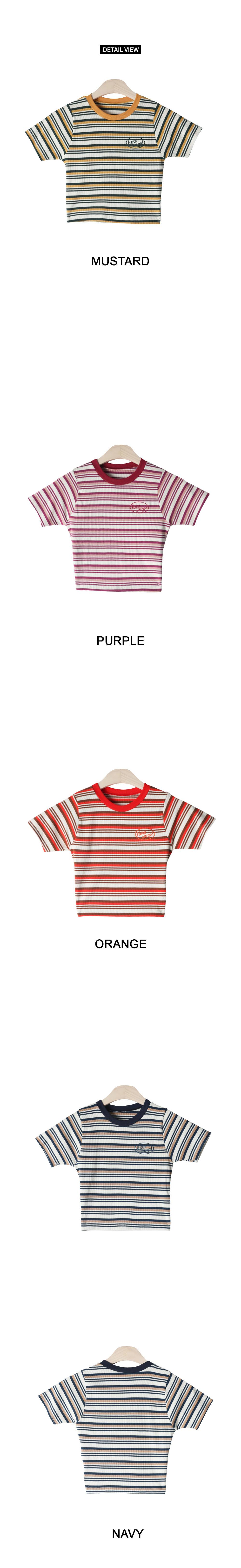 Higgo striped cropped shirt