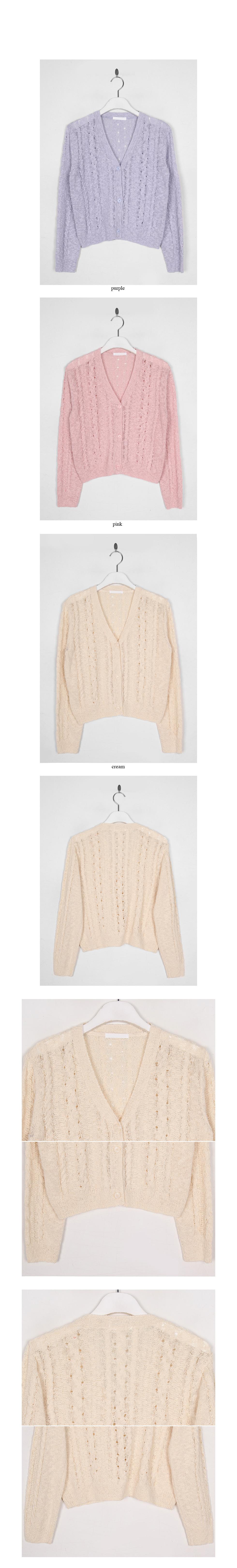 v-neck knitting cardigan