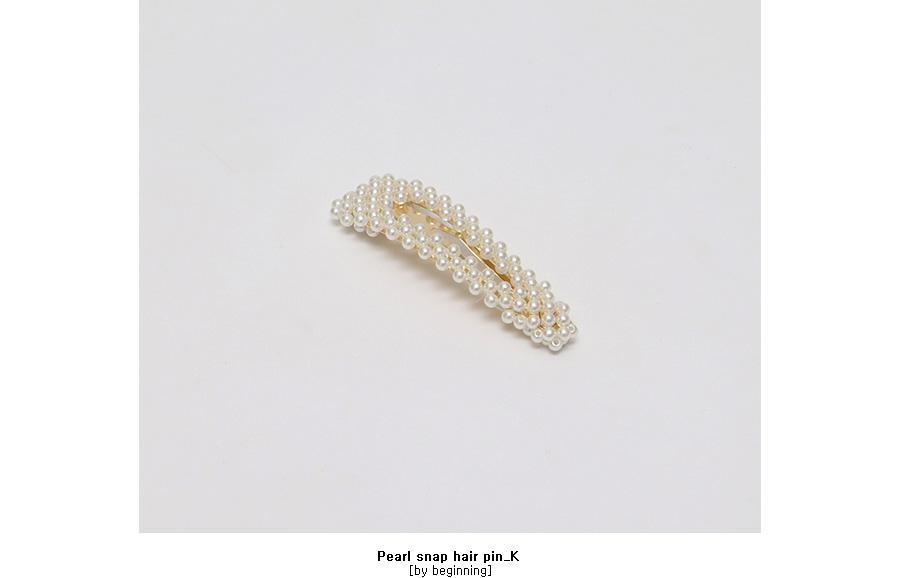 Pearl snap hair pin_K