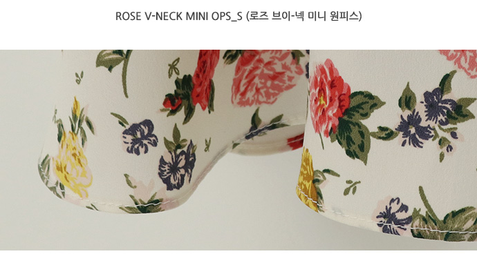 Rose v-neck mini ops_S