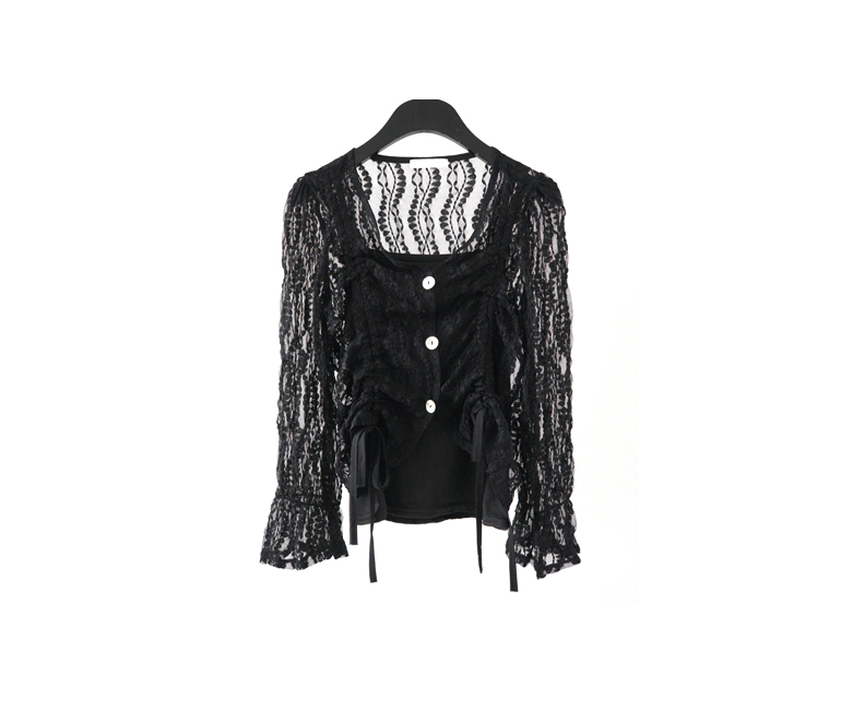 lace string blouse