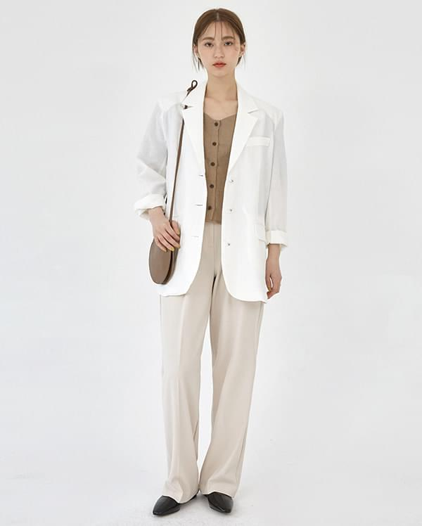 thin linen simple jacket