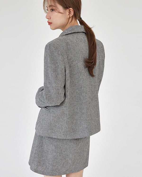 ringo check short jacket