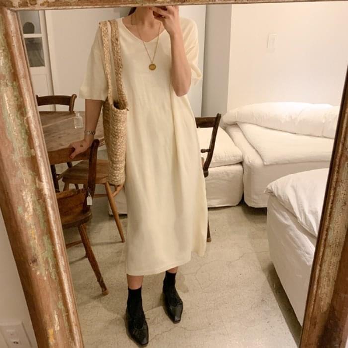 Planning Specials / knit dress short sleeve ruffles