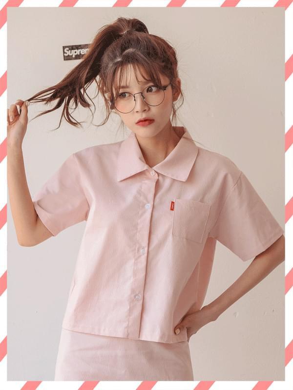 보니 팔레트 반팔 셔츠 (nb844)