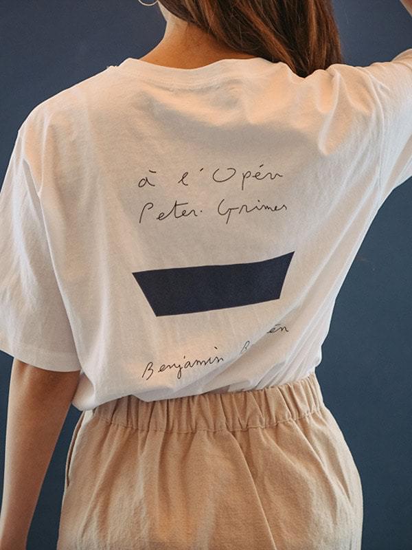 Benjamin Lettering Short Sleeve Polo Shirt