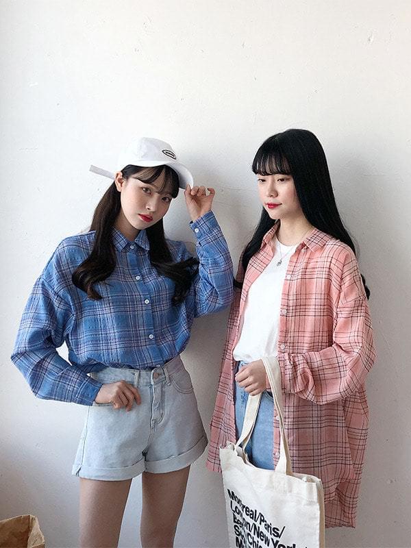 Alo Pastel Check Shirt