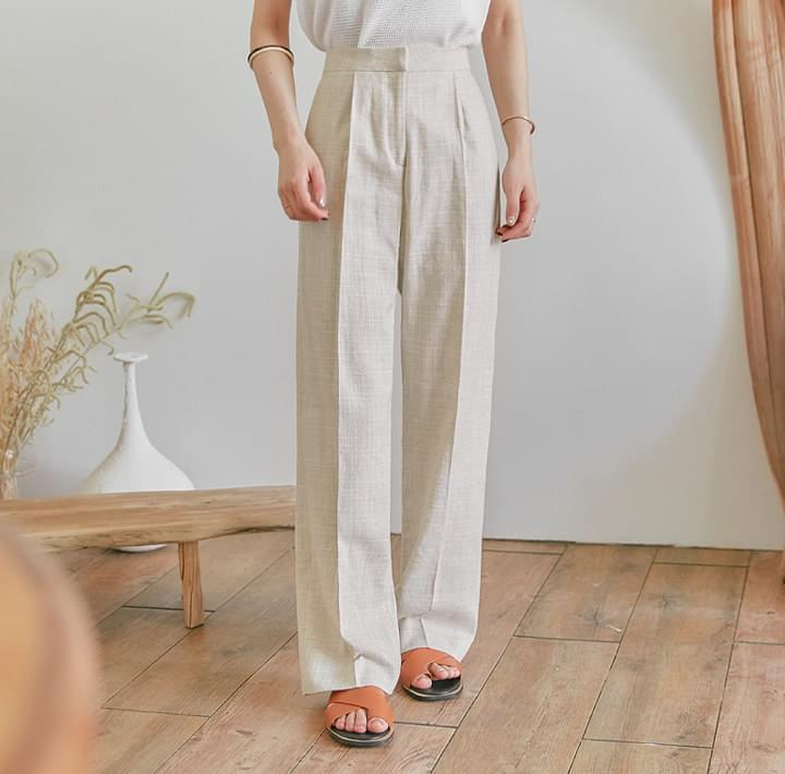 CZERNY LINEN SET-UP SLACKS