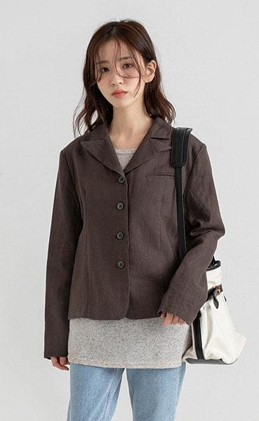 call linen short jacket