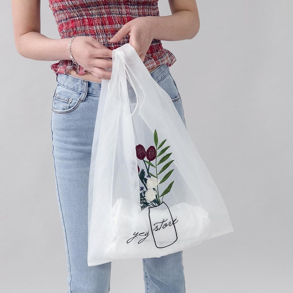 Benion Flower Mesh Bag