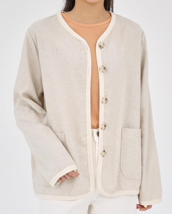a more linen cardigan