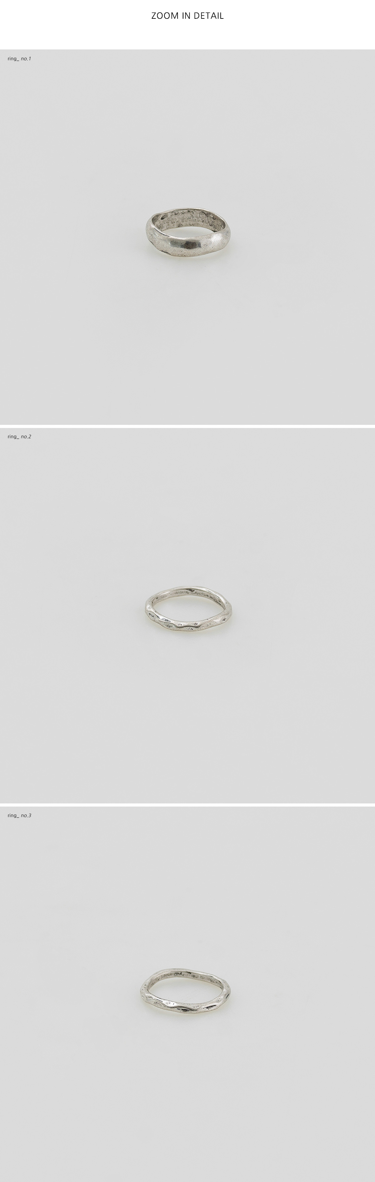 uneven bold ring set