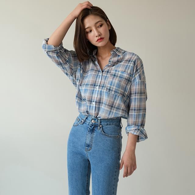 check pattern cotton shirts