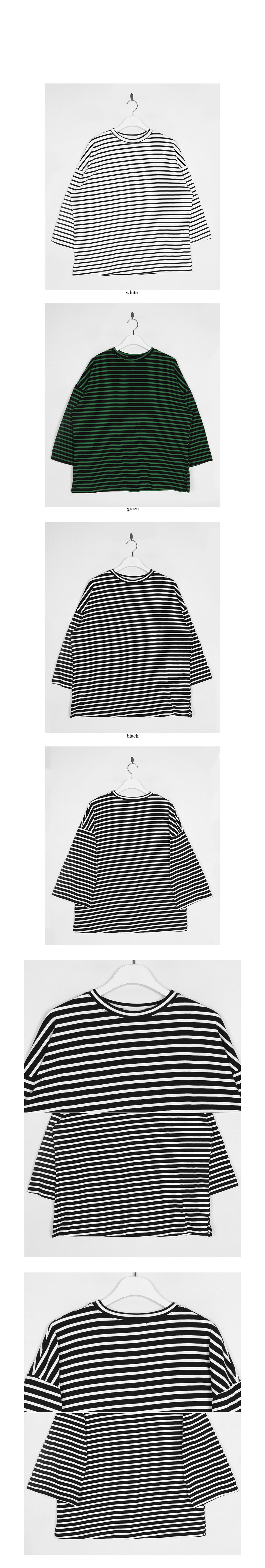stripe pattern oversized t-shirt