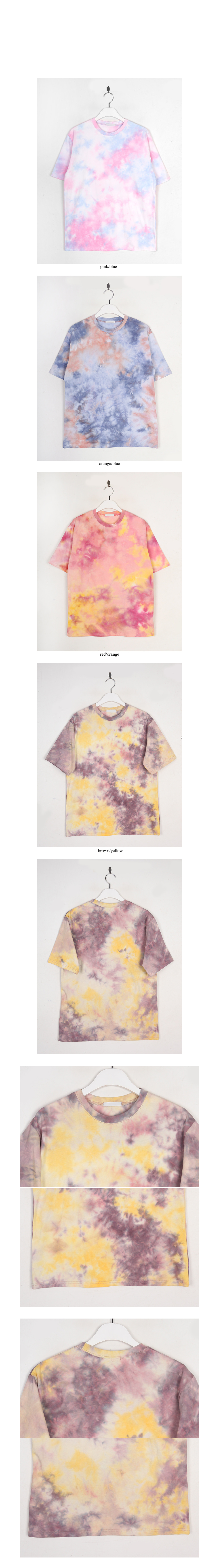vivid color dyeing tee