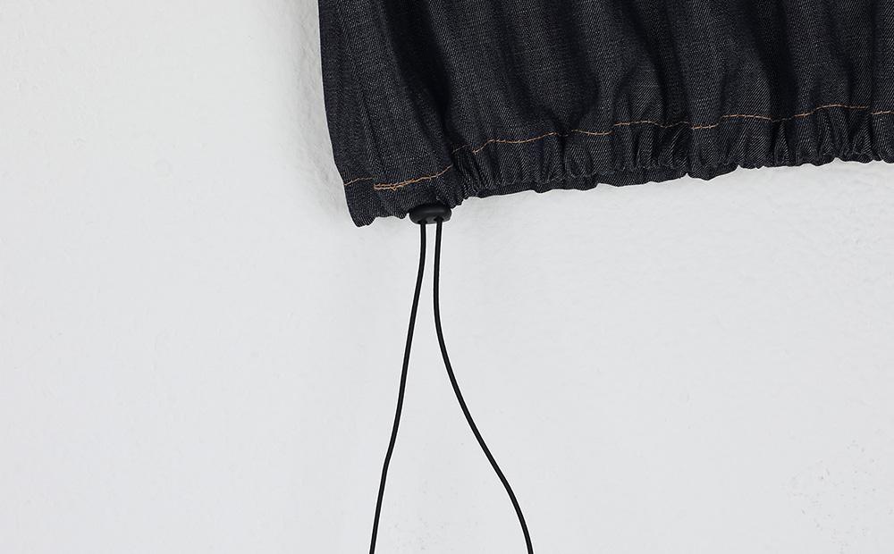 raw pumkin banding mini skirt
