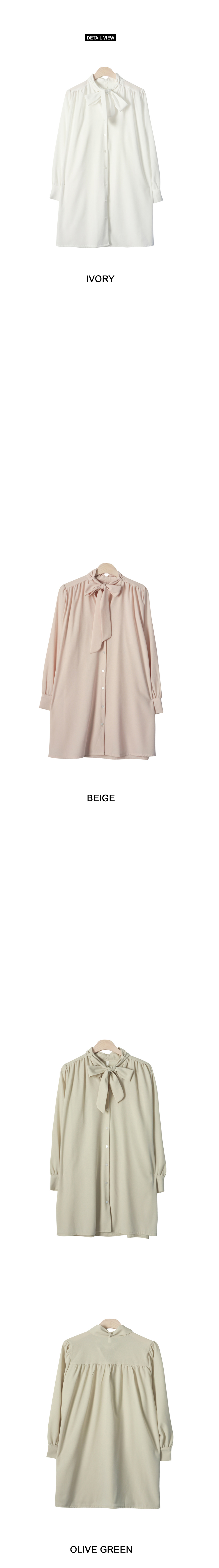 Monaco Shirt Ribbon Dress