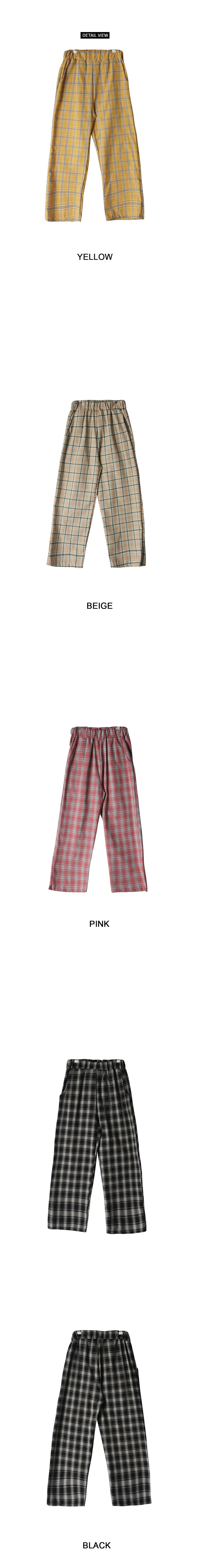 Return Check Bending Pants