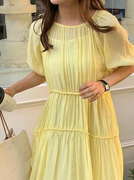 Ribbon Ribbon Long Dress