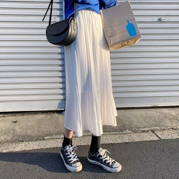 Rossi pleated long skirt