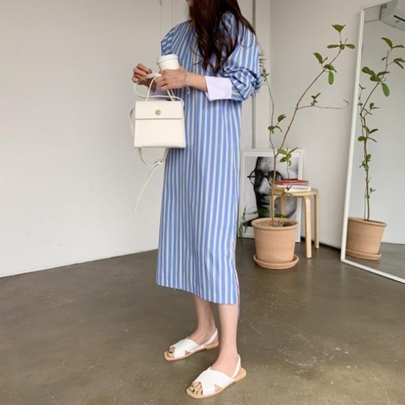 Emma Striped Long Dress