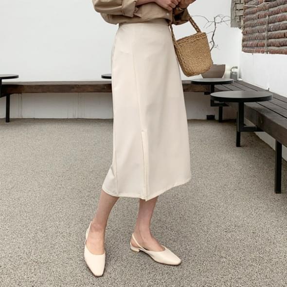 Clover slit long skirt
